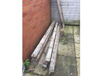Eight 4x4 7.5ft concrete posts for sale. Great condition