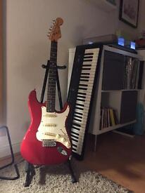 Squier by fender Stratocaster MIK S Serial 1991 fiesta red finish
