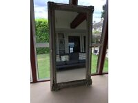 Antique Effect Large Wooden Mirror