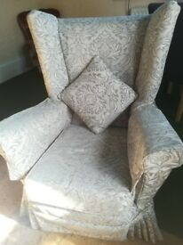 Retro settee and 2 chairs