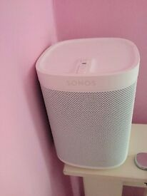 Sonos Play 1 all white limited special edition very good condition