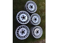 5 x Genuine BMW e36, e46 1 or 3 series alloy wheels 15 inch no tyres rims WOKING