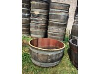 Half Barrels solid oak