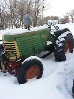 OLIVER 88 TRACTOR WITH BLADE & FORK