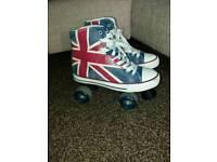 Roces union jack roller boots sz 5