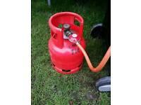 Bbq gas bottle.