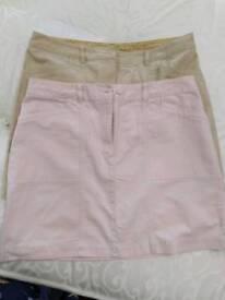 2 x Next skirts 16