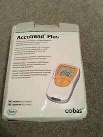 Accutrend for testing cholesterol and glucose