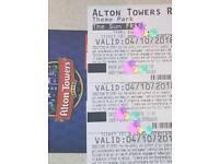 4 x Alton Towers Tickets