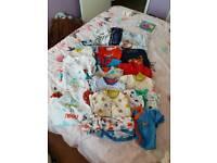 Baby boys 0-3 months sleepsuit bundle