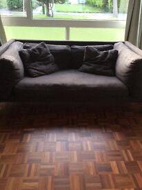 Habitat brown 2 seat sofa