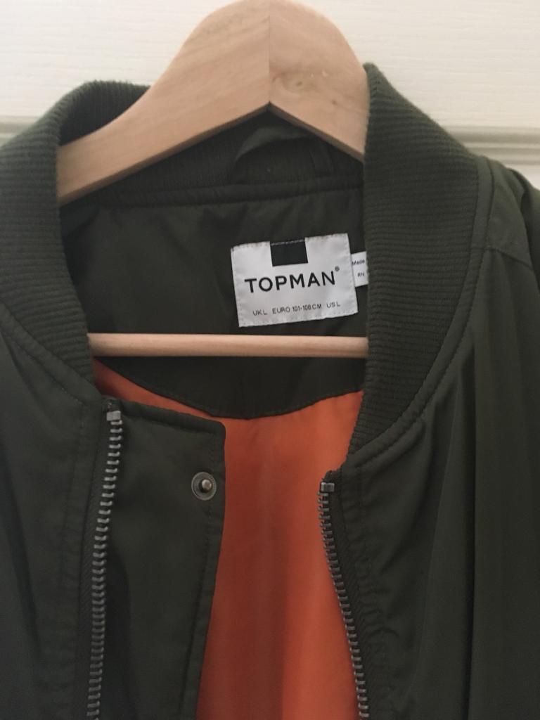 Topman Men's Bomber Jacket