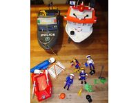 Playmobil Police Boat, Divers, Lifeboat, motor and more