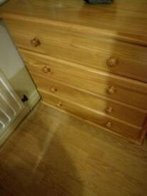 Drawers, bedside locker and FREE wardrobe