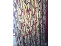 CURTAINS - FULLY LINED - HAND MADE - QUALITY FABRIC