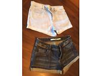 Topshop Denim shorts size 8