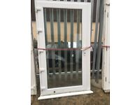 Extra wide upvc door with clear glass