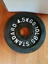 4.5kg 10lbs Olympic weight plates
