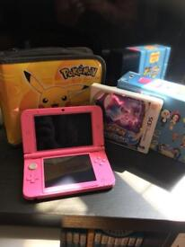 Nintendo 3DS with Pokemon Moon and Case