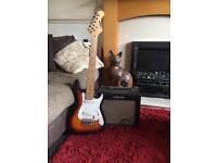 Guitar and amplifer