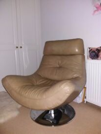 Leather Lounge Chair.