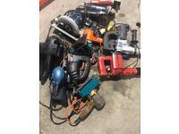 Electrical drills, grinders, saws, sanders