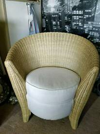 Ikea wicker tub seat