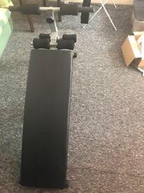 Abdominal exercise bench