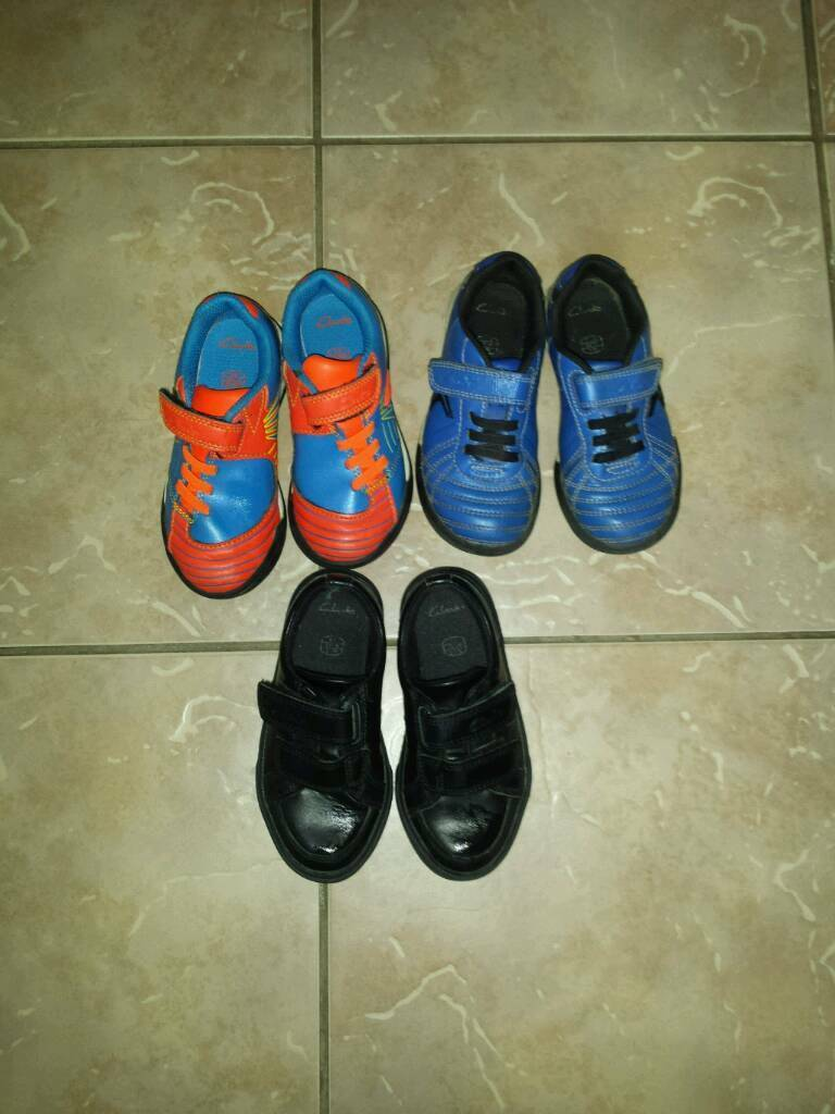Clarks shoes, size 8, 3 pairs