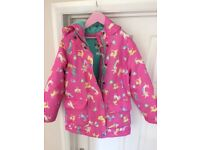 Joules raining cats and dogs jacket/coat