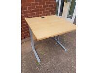 Beech effect straight office desks ,/ Home office desks 3 available