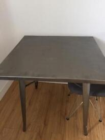 Steel table kitchen square