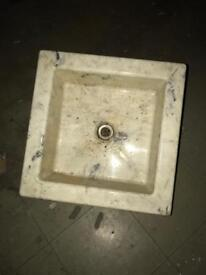 Antique marble square sink
