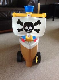 Little Tikes Play N Scoot Pirate Ship Ride On