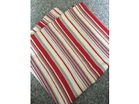 New Red stripe fabric material - craft home chair cushion blind curtain bed shabby chic