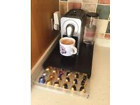Nespresso coffee machine and capsule storage drawer/stand