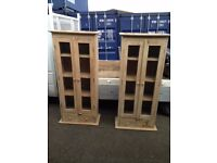 pair of French antique style armoire dressers cupboard very heavy top quality