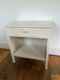 Vintage white wooden table