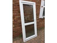 Upvc double glazed door. Obscure glass 920 x 2040
