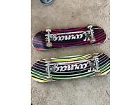 Two skateboards. 2 month old. £15 each or £25 for a pair.