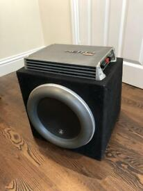 "JL Audio 12w7 12"" 1000W RMS Subwoofer and Hertz EP1D 1000W RMS Mono Amplifier Package"