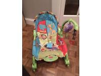 Fisher price newborn to toddler jungle rocker & chair