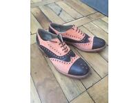 Women's Pavoni leather and suede two-tone brogues