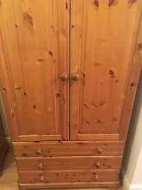 Child bedroom cupboard with drawers