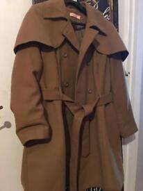 Ladies Tan Belted Coat