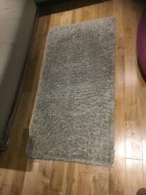 Grey shaggy pile rug