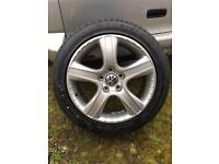"4x Genuine VW T5 Dakar 18"" alloy wheels"