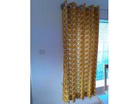 Orla Kiely Linear Stem Pair Lined Eyelet Curtains, Dandelion