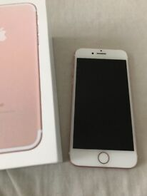 iPhone 7 128gb Rose Unlocked