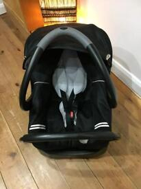 Infant rear facing car seat with base